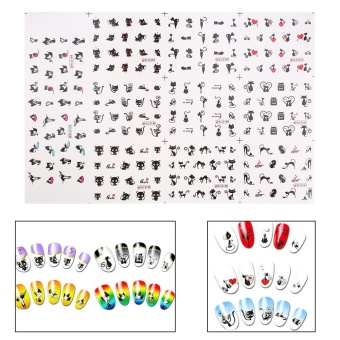 Lovely Cat Cartoon Nail Art Water Transfer Sticker Manicure Decoration - intl Price Philippines