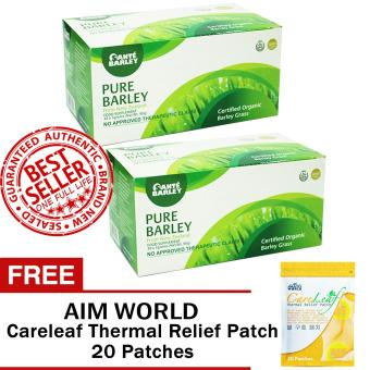 Harga Sante Pure Barley Powder Juice 3 grams Sets of 2 with FREE Aim Global Careleaf Thermal Relief Pack 20 Patches