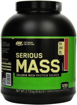 Harga Optimum Nutrition Serious Mass 6lbs (Strawberry)
