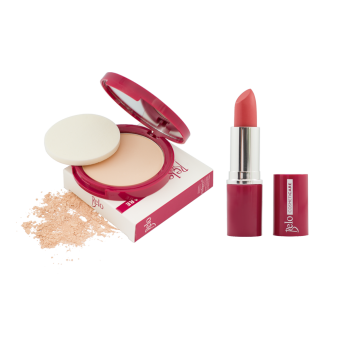 Belo Cosmeticare Face Powder (Light) with Lipstick (Coral) Price Philippines