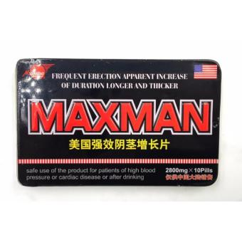 Max-man Penis Enlarger and Sex Enhancement Supplement 2800mg Pills Box of 10 Price Philippines