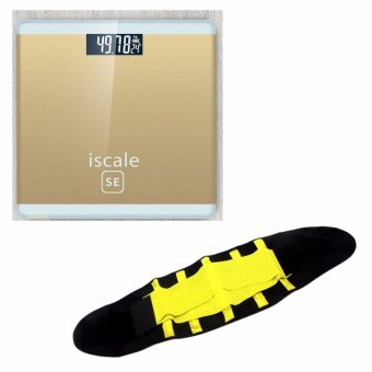 Iscale SE Digital Scale High Accuracy Weight Scale (Gold) With free Hot Shapers Adjustable Waistband Hot Belt Power Price Philippines