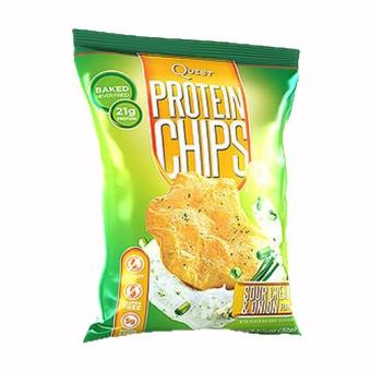 Harga Quest Protein Chips Sour Cream & Onion - Pack of 3
