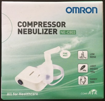 Harga New Mini Omron NE-C803 Compressor Nebulizer for Efficiency Respiratory Management (White)