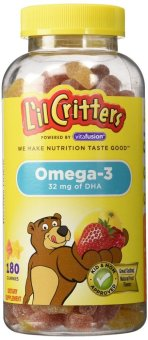 Harga L'il Critters Omega-3 Gummy Fish with DHA 120-Count Bottle