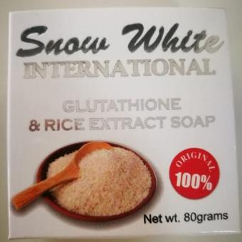 Harga Snow White International Glutathione and Rice Extract Soap 80g