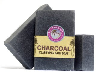 Harga Milea Organic Charcoal Clarifying and Detoxifying Soap 100g Set of 3