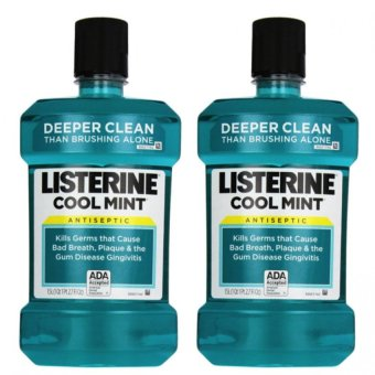 Listerine Antiseptic Mouthwash 1.5L Set of 2 (Cool Mint) Price Philippines