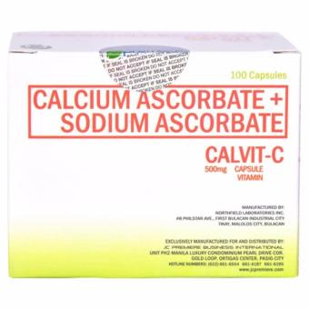Calvit-C (JC Pemiere) Calcium Carbonate + Sodium Carbonate (500mg) 100 capsules Price Philippines