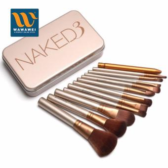 Harga Naked3 12 pcs Professional 3 Power Makeup Brushes for Women #29399