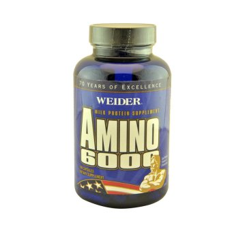 Harga Weider Amino 6000 Muscle Builder Supplement Capsules, Bottle of 100