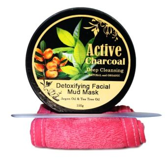 Harga Activated Charcoal Mudpack 150g with Argan Oil