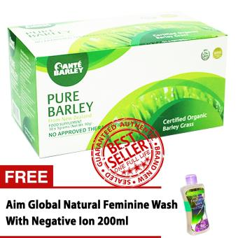 Harga Sante Pure Barley Powder Juice 3 grams Box of 30 with FREE Feminine Wash with Negative Ion 200ml