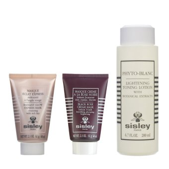 Harga Sisley Black Rose Cream Mask + Radiant Glow Express Mask with Red Clays + Lightening Toning Lotion with Botanical Extracts - Intl - intl