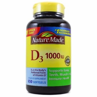 Nature Made D3 1000 IU, 650 Softgels Price Philippines