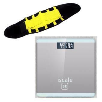 Iscale SE Digital Scale High Accuracy Weight Scale (White-Gray) With free Hot Shapers Adjustable Waistband Hot Belt Power Price Philippines