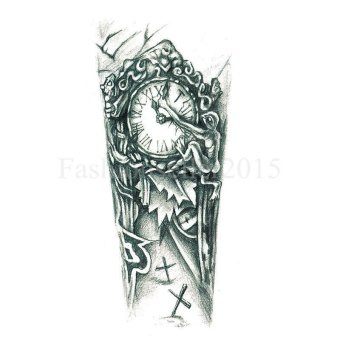 Waterproof Nordic Old Clock Temporary Tattoo Body Arm Leg Art Stickers Removable Price Philippines