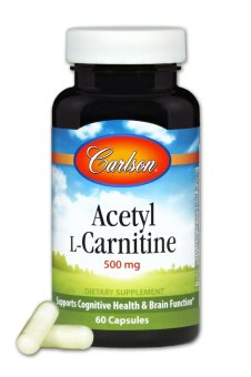 Harga Carlson Acetyl L-Carnitine 500mg Bottle of 60 Capsules