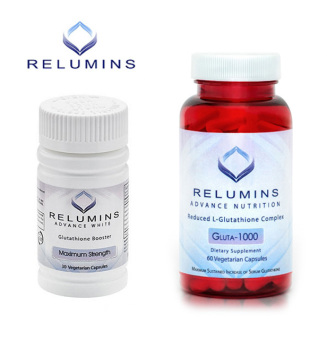 Relumins Advance White Gluta 1000 Reduced L-Glutathione 60 Vegetarian Capsules with Booster Max Strength