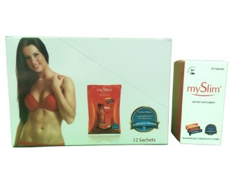 MySlim Yerba Mate Drink 12 sachets and 30 capsules Slimming Set Price Philippines