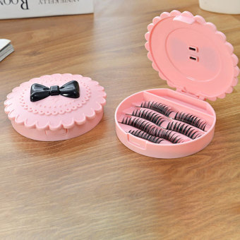 False Make Up Cosmetic Eyelashes Storage Case Bow Makeup Plastic Box Home Price Philippines