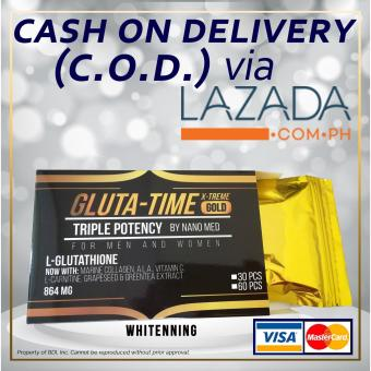GLUTA-TIME X-TREME GOLD Premium Nanomized L-Glutathione 120 Capsules (16 boxes left)