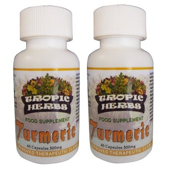Harga Tropic Herbs Turmeric 100% Pure & High Grade Powder 60 Capsules 500mg Set of 2