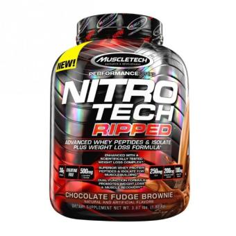 Harga MuscleTech NitroTech Ripped Powder, Advanced Whey Protein Peptides & Isolate Plus Weight Loss Formula, 3.97 lbs
