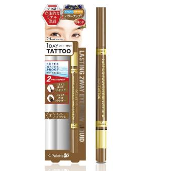 Harga K-Palette 1 Day Tattoo Lasting 2-Way Eyebrow Waterproof (Liquid and Powder) [ no.1 Light Brown ]