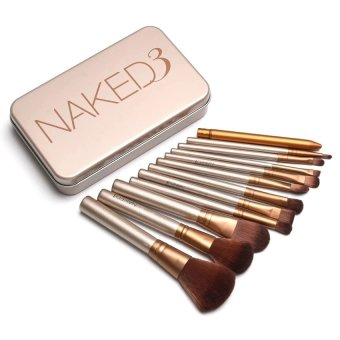 Harga Beauty Inhouse Naked 12 pcs Professional 3 Power Makeup Brushes