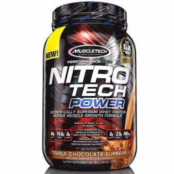 Harga Genuine Seald Muscletech Nitro-tech POWER Muscle Amplifying Whey Protein Isolate 2lbs Triple Chocolate Supreme