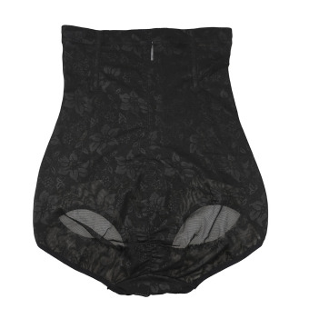 Harga High Waist Breathable Body Shaper Slimming Hip up Corset Panties Black XL (Intl)