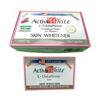 ActiveWhite L-Glutathione 60 Capsules 1000mg and Soap Bundle
