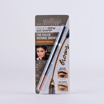 Harga Maybelline Fashion Brow Duo Shaper (Chesnut Brown)