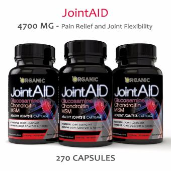 Harga JointAid Glucosamine, Chondroitin, MSM, Collagen Pain Relief, Joint Repair, 90 count, 4700MG All Natural - 3 BOTTLES