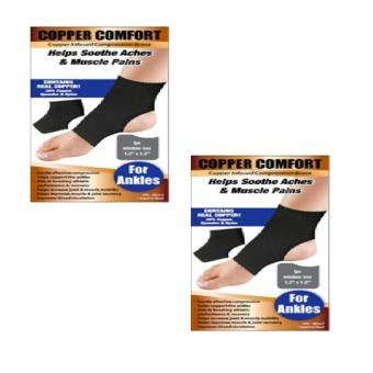 Copper Comfort for Ankles Copper Infused Compression Brace Set of 2 Price Philippines