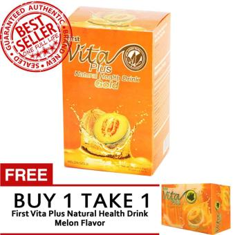Harga First Vita Plus Authentic Melon Gold 20 sachets with FREE First Vita Plus Authentic Melon Flavor