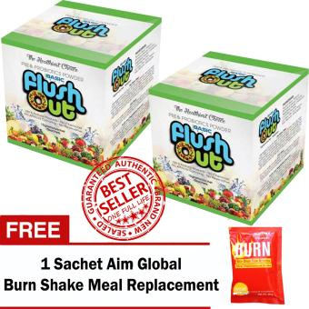 Harga Flush Out Colon Cleanse Prebiotics & Probiotics Fiber Drink 150 grams 10 packs Sets of 2 with FREE 1 Sachet Aim Global Meal Replacement Shake