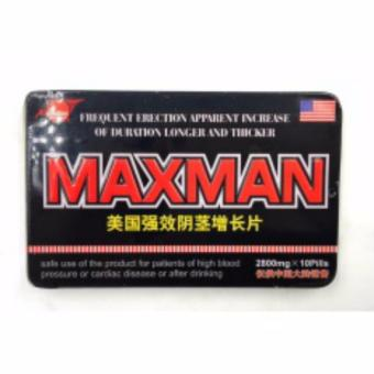 Harga Max man Penis Enlarger and Sex Enhancement Supplement 2800mg Pills Box of 10