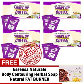 Zensure Shape up Slimming Coffee 7 sachets/Box Sets of 4 with FREE Essensa Naturale Body Contouring Fat Burner Soap Price Philippines