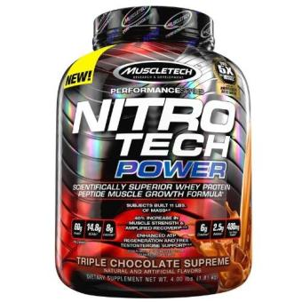 Harga Genuine Sealed MuscleTech Nitro-tech POWER Muscle Amplifying Whey Protein Isolate 4lbs Triple Chocolate Supreme