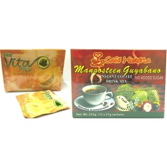 Harga First Vita Plus Natural Health Drink Melon and Cafe Historia Mangosteen Guyabano Healthy Set