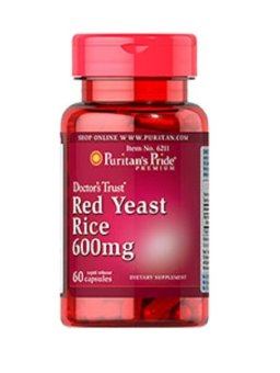 Harga Puritan's Pride Red Yeast Rice Bottle of 60 Capsules 600mg