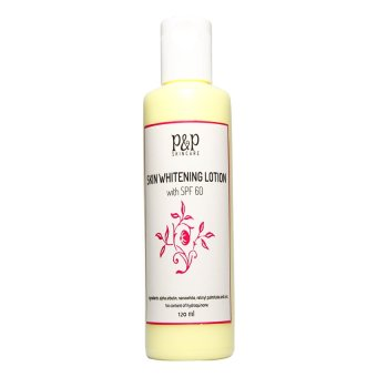 Harga P&P Skin Care Skin Whitening Lotion with SPF 60 120ml