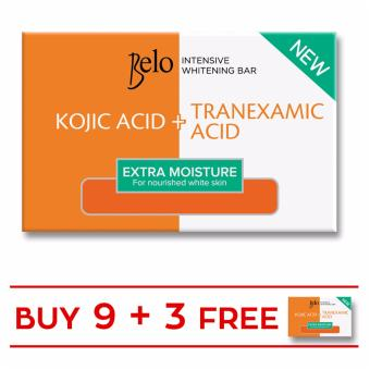 BELO INTENSIVE WHITENING EXTRA MOISTURE BAR 65G Set of 9 with Free 3 Bars Price Philippines