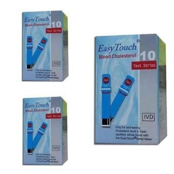 EasyTouch GCU Blood Cholesterol Strips 10's Set of 3 Price Philippines