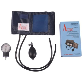 Accuracy Blood Pressure Sphygmomanometer with Stethoscope Set (Black) Price Philippines