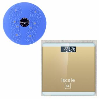 Iscale SE Digital Scale High Accuracy Weight Scale (Gold) With free Waist Twisting Disc Healthy Massager (Blue) Price Philippines