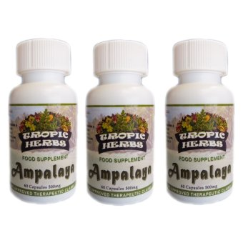 Harga Tropic Herbs Ampalaya (Charantia) 100% Pure Leaf Powder 60 Capsule 500mg Set of 3