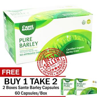 SANTE PURE BARLEY POWDER 30 SACHETS WITH FREE 2 BOXES SANTE CAPSULES 60 CAPSULES/BOX Price Philippines